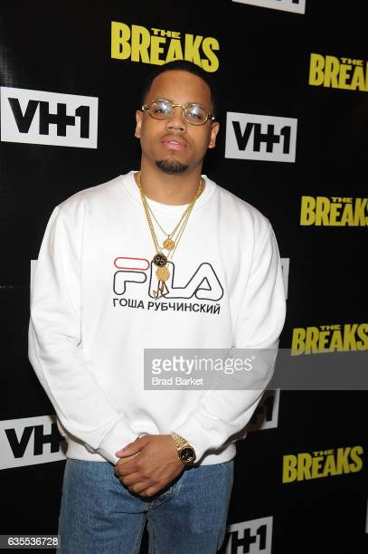 Mack Wilds attends 'The Breaks' Series Premiere at Roxy Hotel on February 15 2017 in New York City