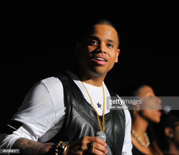 Mack Wilds performs at the BET Music Matters Showcase at Creative Artists Agency on January 24 2014 in Los Angeles California