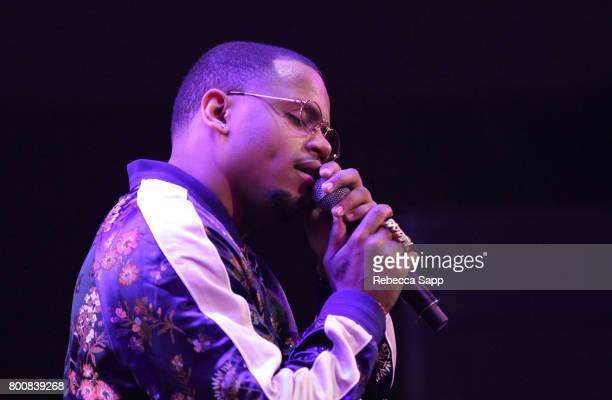 Mack Wilds performs onstage during the 2017 BETX main stage performances sponsored By Fresh Empire at Staples Center on June 25 2017 in Los Angeles...