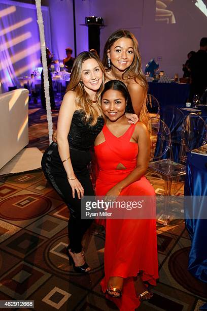 MacKenzie Brown McKenzie Willis and Morgan Willis pose during the 46th Annual NAACP Image Awards Postshow Gala Celebration Sponsored By Hyundai held...