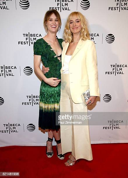 Mackenzie Davis and Caitlin Fitzgerald attend 'Always Shine' Premiere 2016 Tribeca Film Festival at Chelsea Bow Tie Cinemas on April 15 2016 in New...