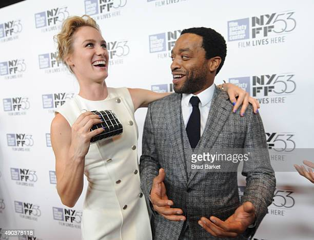Mackenzie Davis and Chiwetel Ejiodor attend the 53rd New York Film Festival 'The Martian' Premiere Arrivals at Alice Tully Hall on September 27 2015...