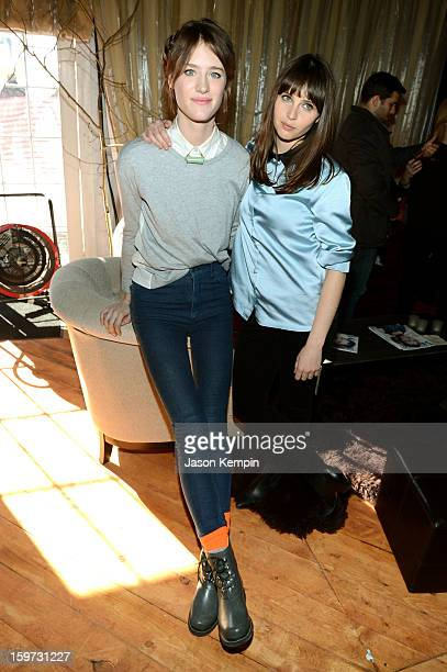Mackenzie Davis and Felicity Jones attend Day 2 of UGG at Village At The Lift 2013 on January 19 2013 in Park City Utah