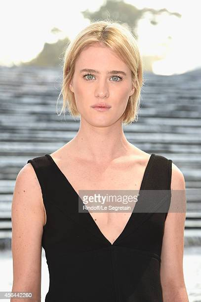 Mackenzie Davis attends the Louis Vuitton show as part of the Paris Fashion Week Womenswear Spring/Summer 2015 on October 1 2014 in Paris France