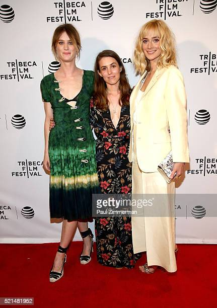 Mackenzie Davis director Sophia Takal and Caitlin Fitzgerald attend 'Always Shine' Premiere 2016 Tribeca Film Festival at Chelsea Bow Tie Cinemas on...
