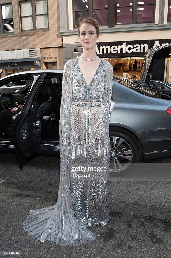 Mackenzie Davis is seen departing the Mandarin Oriental hotel on May 2, 2016 in New York City.
