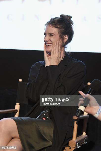 Mackenzie Davis speaks at the 'Izzy Gets The Fuck Across Town' and 'Ok Call Me Back' Premieres during the 2017 Los Angeles Film Festival at Arclight...