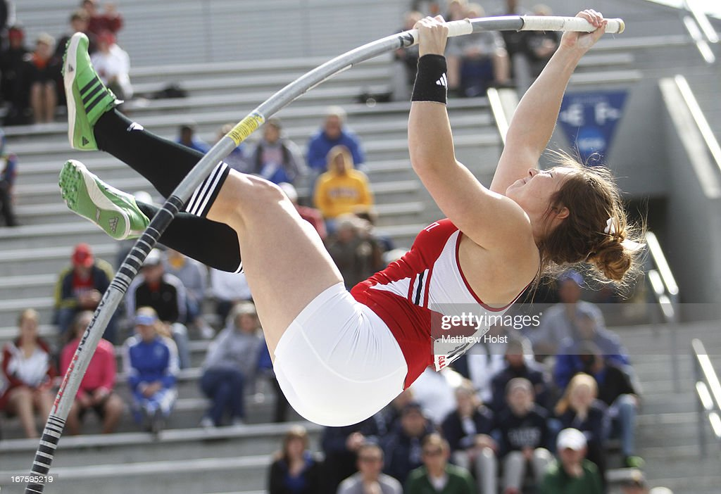 Mackenzie Fields of the Cincinnati Bearcats competes in the Women's pole vault at the Drake Relays, on April 26, 2013 at Drake Stadium, in Des Moines, Iowa.
