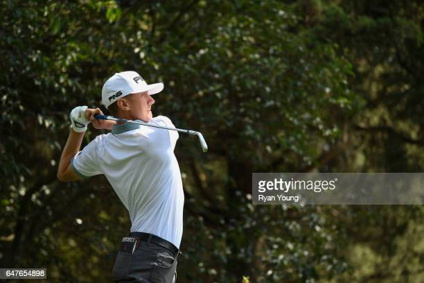 Mackenzie Hughes of Canada tees off on the 13th hole during the second round of the World Golf ChampionshipsMexico Championship at Club de Golf...