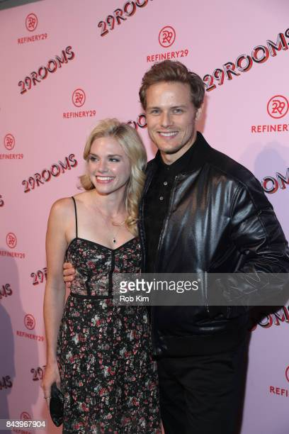 MacKenzie Mauzy and Sam Heughan attend 29Rooms Opening Night 2017 on September 7 2017 in New York City