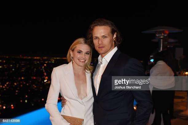 Mackenzie Mauzy and Sam Heughan attend a cocktail party to kickoff Independent Spirit Awards and Oscar weekend hosted by Piaget and The Weinstein...