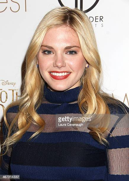 Mackenzie Mauzy attends 'Into The Woods' InHome Release Musical Tribute to Stephen Sondheim at 42West on March 22 2015 in New York City
