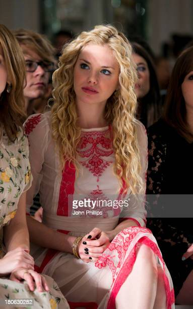 MacKenzie Mauzy attends the Temperley London show during London Fashion Week SS14 at The Savoy Hotel on September 15 2013 in London England