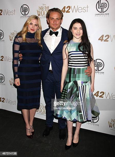 Mackenzie Mauzy Billy Magnussen and Lilla Crawford attend 'Into The Woods' InHome Release Musical Tribute to Stephen Sondheim at 42West on March 22...
