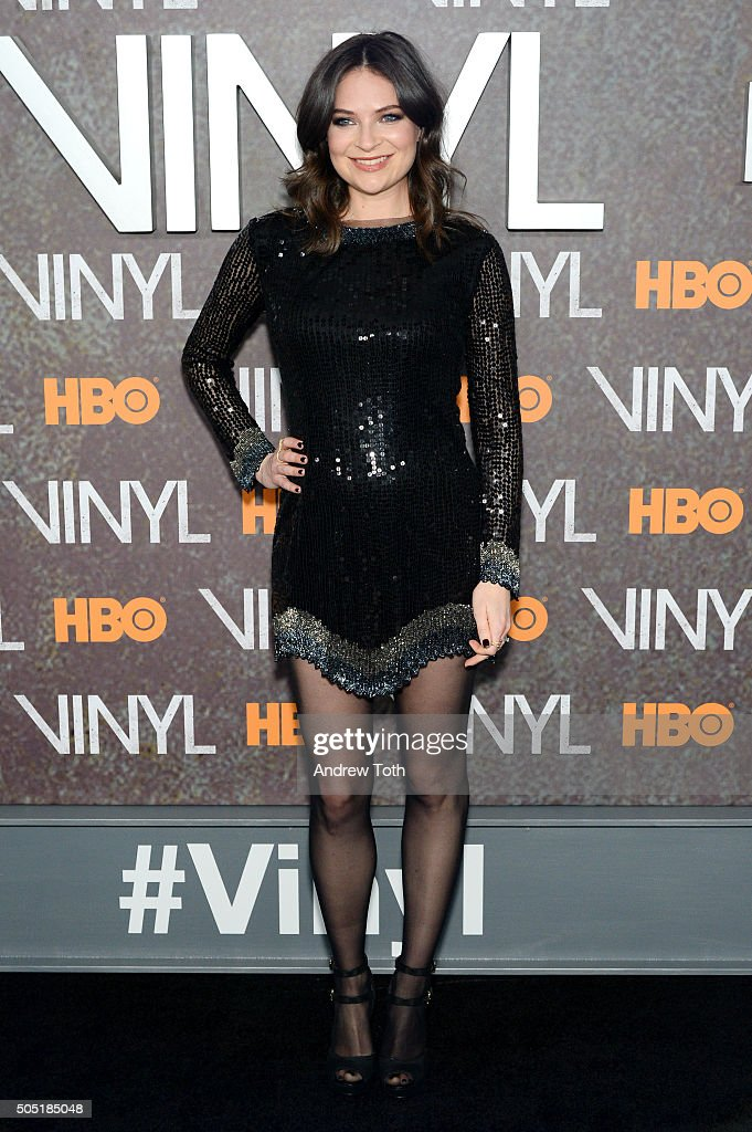MacKenzie Meehan attends the 'Vinyl' New York premiere at Ziegfeld Theatre on January 15, 2016 in New York City.