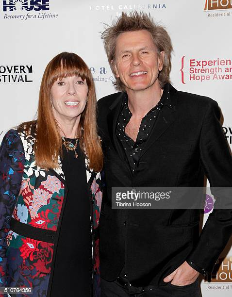 Mackenzie Phillips and John Taylor Duran Duran attend the 7th Annual Experience Strength And Hope Awards at Skirball Cultural Center on February 16...