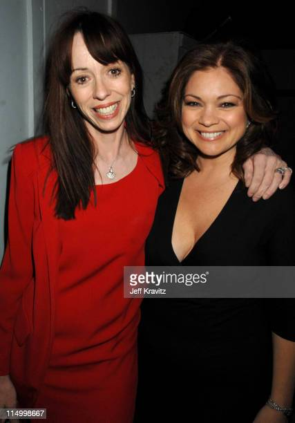 Mackenzie Phillips and Valerie Bertinelli during 5th Annual TV Land Awards Backstage at Barker Hangar in Santa Monica California United States