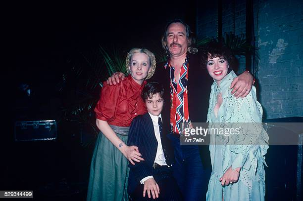 Mackenzie Phillips with her father John Phillips her halfbrother Tamerlane and John's wife Genevieve Waite circa 1980 New York