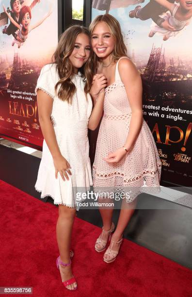 Mackenzie Ziegler and Lilia Buckingham attend the premiere Of The Weinstein Company's 'Leap' at Pacific Theatres at The Grove on August 19 2017 in...