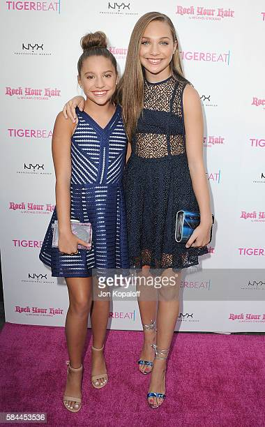 Mackenzie Ziegler and sister Maddie Ziegler arrive at Tiger Beat's PreParty Around FOX's Teen Choice Awards at HYDE Sunset Kitchen Cocktails on July...