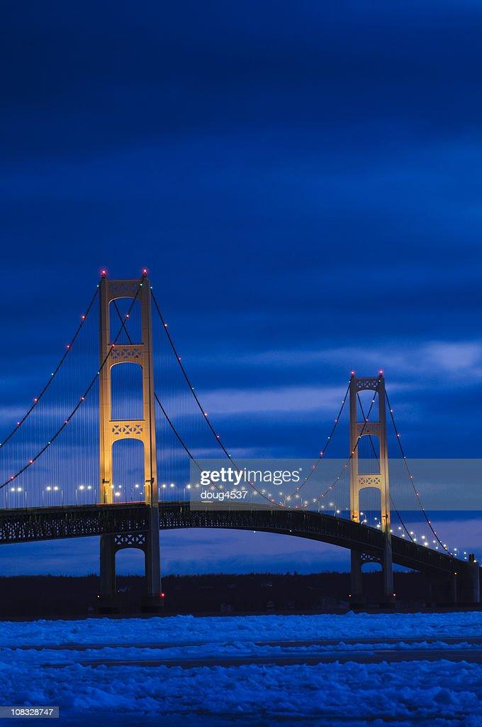 Mackinac Bridge in Winter
