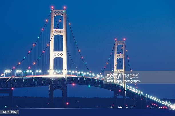 Mackinac bridge morning blues