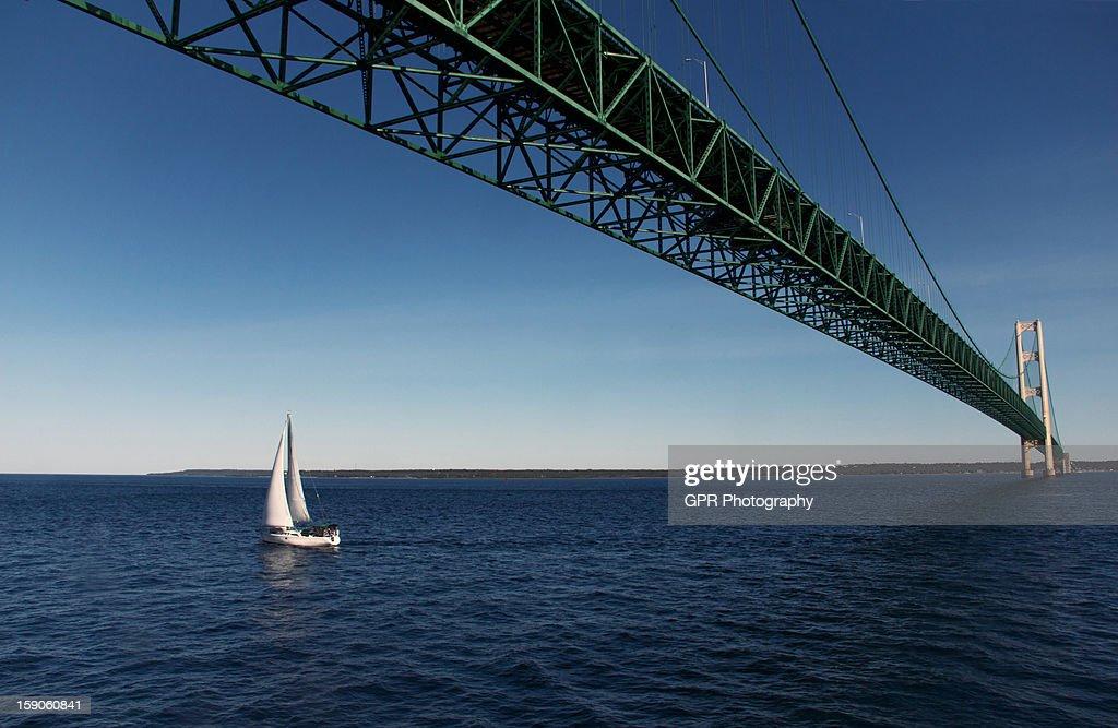 mackinac bridge : Stock Photo