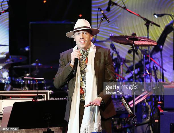 Macklemore aka Ben Haggerty performs onstage during the Clive Davis and The Recording Academy present The Annual PreGRAMMY Gala held at The Beverly...