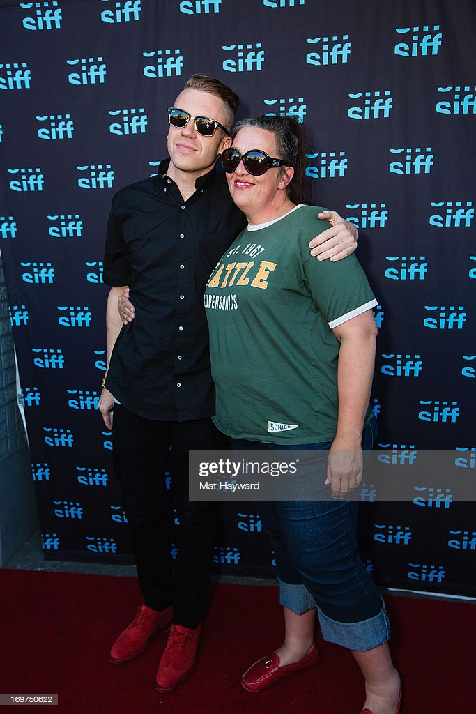 <a gi-track='captionPersonalityLinkClicked' href=/galleries/search?phrase=Macklemore&family=editorial&specificpeople=7639427 ng-click='$event.stopPropagation()'>Macklemore</a> and Kerri Harrop attend the world premiere of 'The Otherside' at SIFF Cinema Uptown on May 31, 2013 in Seattle, Washington.