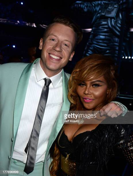 Macklemore and Lil' Kim attend the 2013 MTV Video Music Awards at the Barclays Center on August 25 2013 in the Brooklyn borough of New York City