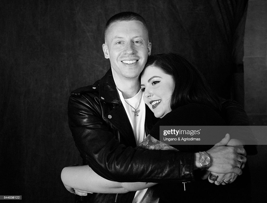 Macklemore and Mary Lambert pose for a portrait at Logo's 'Trailblazer Honors' on June 23, 2016, in the Cathedral of St. John the Divine in New York City.