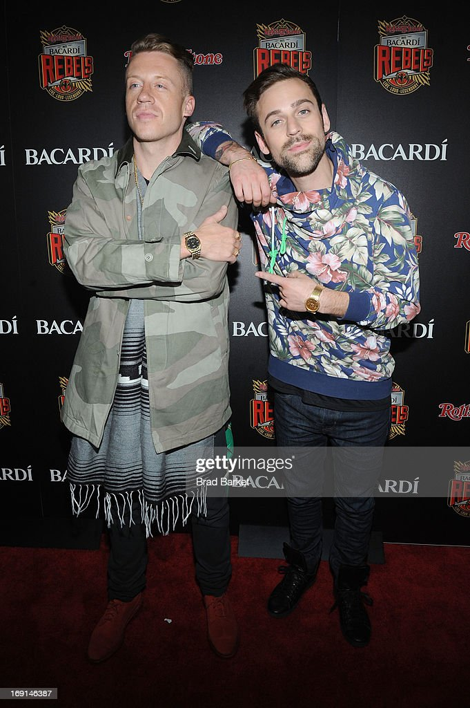 <a gi-track='captionPersonalityLinkClicked' href=/galleries/search?phrase=Macklemore&family=editorial&specificpeople=7639427 ng-click='$event.stopPropagation()'>Macklemore</a> and Ryan Lewis attend Rolling Stone hosts Bacardi Rebels at Roseland Ballroom on May 20, 2013 in New York City.