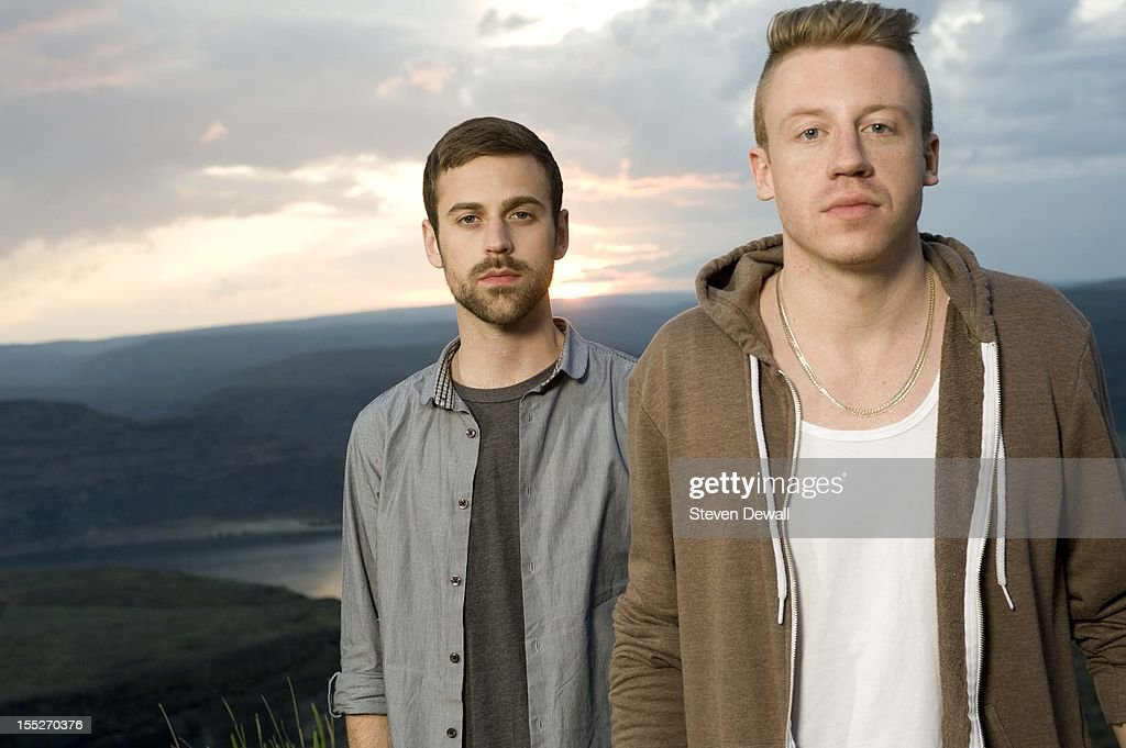 Macklemore and Ryan Lewis pose for a portrait backstage at the Sasquatch Music Festival in Seattle Washington United States 29th May 2011