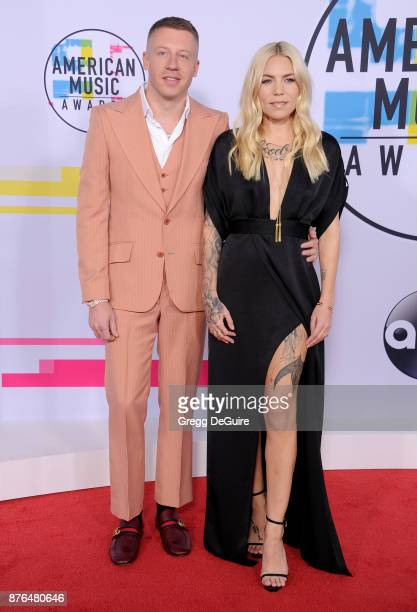 Macklemore and Skylar Grey arrive at the 2017 American Music Awards at Microsoft Theater on November 19 2017 in Los Angeles California