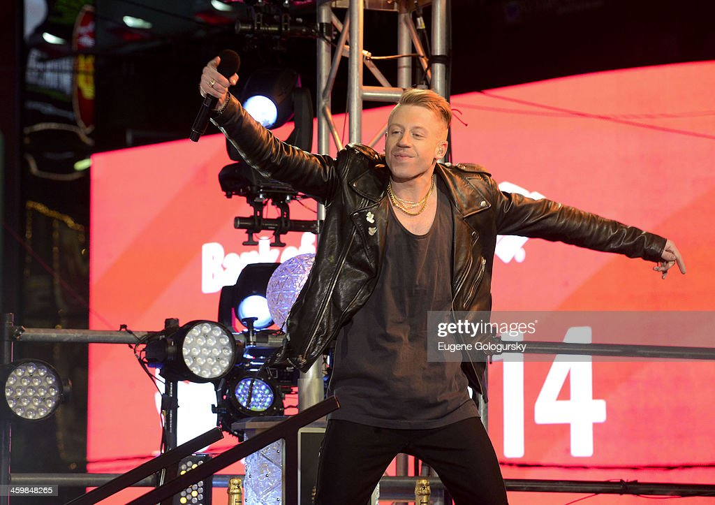 Macklemore at New Year's Eve Countdown at Times Square on December 31, 2013 in New York City.