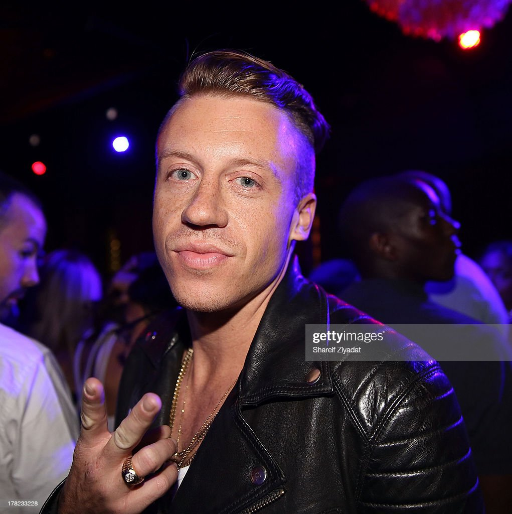 <a gi-track='captionPersonalityLinkClicked' href=/galleries/search?phrase=Macklemore&family=editorial&specificpeople=7639427 ng-click='$event.stopPropagation()'>Macklemore</a> attends the 2013 VMA After Party at PhD (Dream Downtown Hotel Rooftop) on August 25, 2013 in New York City.