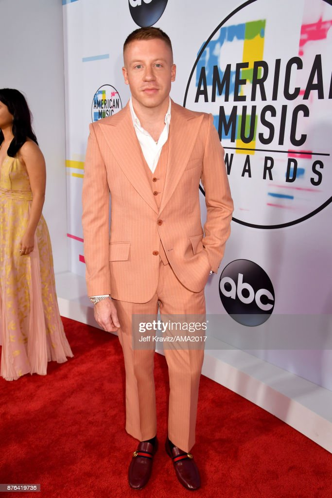 Macklemore attends the 2017 American Music Awards at Microsoft Theater on November 19, 2017 in Los Angeles, California.