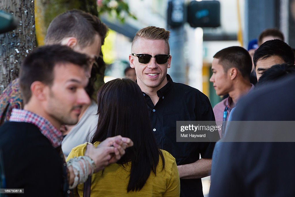<a gi-track='captionPersonalityLinkClicked' href=/galleries/search?phrase=Macklemore&family=editorial&specificpeople=7639427 ng-click='$event.stopPropagation()'>Macklemore</a> attends the world premiere of 'The Otherside' during the Seattle International Film Festival at SIFF Cinema Uptown on May 31, 2013 in Seattle, Washington.
