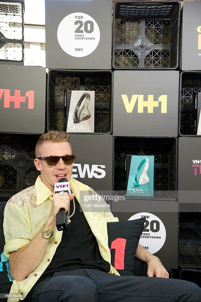 Macklemore is interviewed at the VH1 Cafe at Moonshine Bar on March 15, 2013 in Austin, Texas.