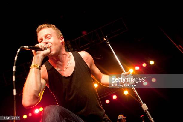 Macklemore of Macklemore Ryan Lewis performs on stage at Roseland during Musicfest NW on September 9 2011 in Portland United States