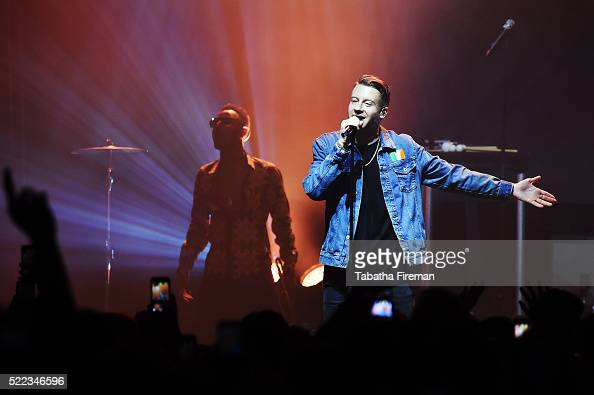 Macklemore performs as headlining act at the Mail Brands Opening Gig during Advertising Week Europe 2016 at KOKO on April 18 2016 in London England