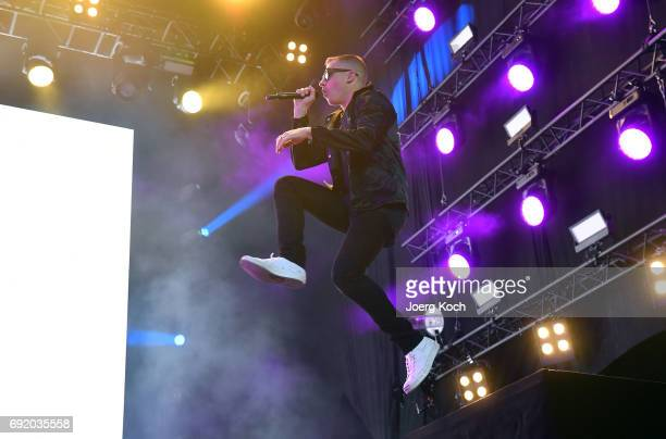 Macklemore performs during Macklemore Ryan Lewis at 'Rock Im Park' music festival at Zeppelinfeld on June 3 2017 in Nuremberg Germany