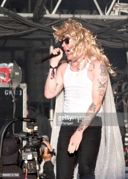 Macklemore performs during the 2017 BottleRock Napa Valley Festival on May 26 2017 in Napa California