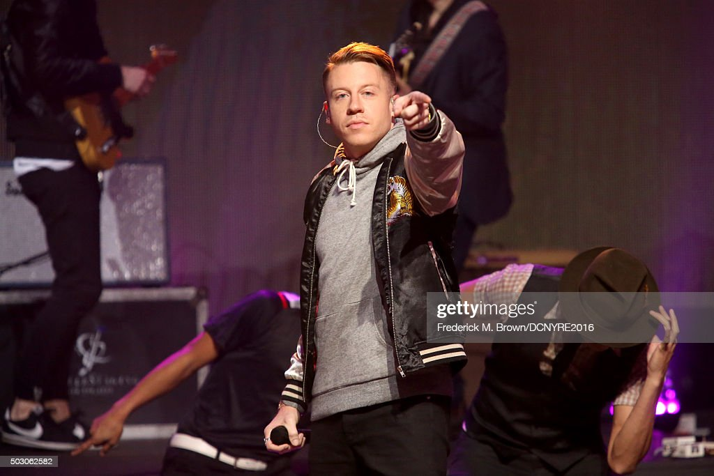 <a gi-track='captionPersonalityLinkClicked' href=/galleries/search?phrase=Macklemore&family=editorial&specificpeople=7639427 ng-click='$event.stopPropagation()'>Macklemore</a> performs onstage at Dick Clark's New Year's Rockin' Eve with Ryan Seacrest 2016 on December 31, 2015 in Los Angeles, CA.