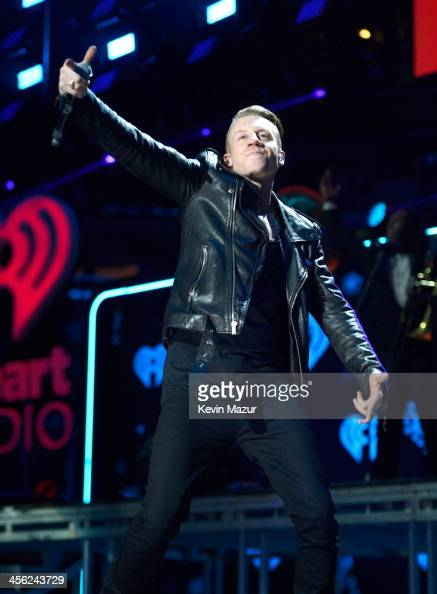 Macklemore performs onstage during Z100's Jingle Ball 2013 presented by Aeropostale Madison Square Garden on December 13 2013 in New York City