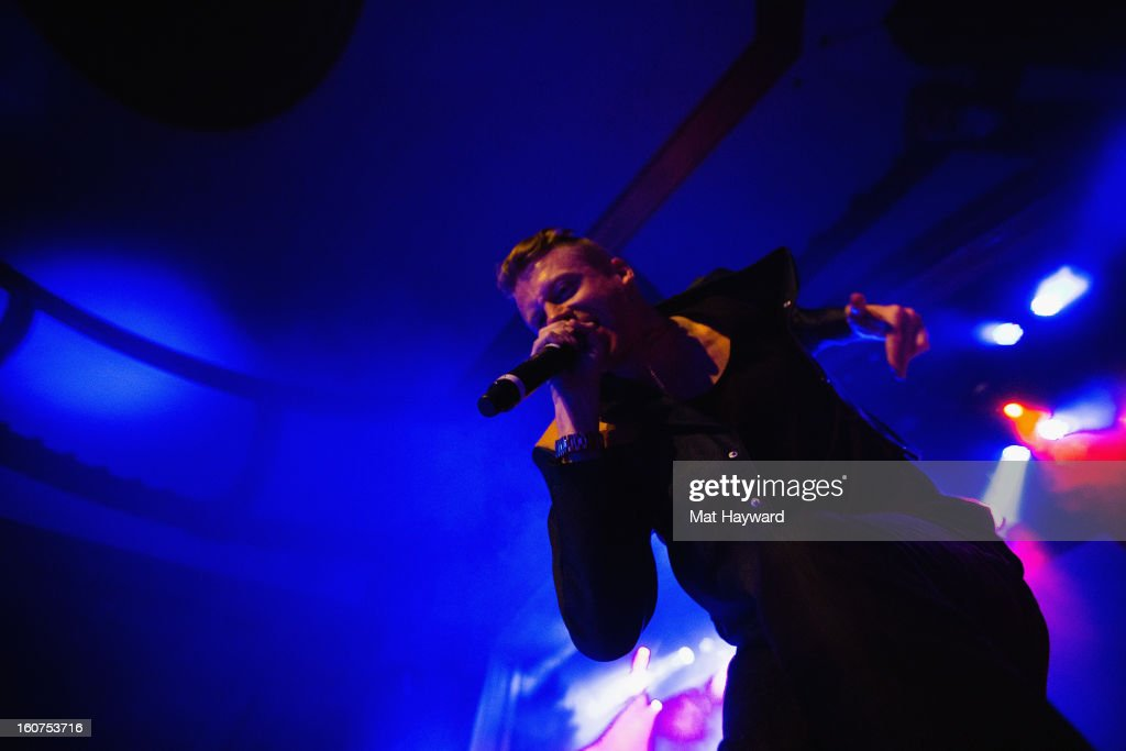 <a gi-track='captionPersonalityLinkClicked' href=/galleries/search?phrase=Macklemore&family=editorial&specificpeople=7639427 ng-click='$event.stopPropagation()'>Macklemore</a> & Ryan Lewis perform at Neptune Theatre on February 4, 2013 in Seattle, Washington.