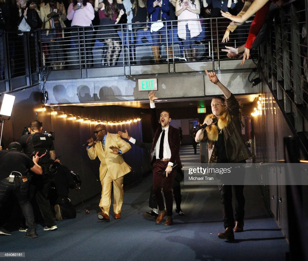 <a gi-track='captionPersonalityLinkClicked' href=/galleries/search?phrase=Macklemore&family=editorial&specificpeople=7639427 ng-click='$event.stopPropagation()'>Macklemore</a> & Ryan Lewis perform at the GRAMMY Nominations Concert Live! held at Nokia Theatre L.A. Live on December 6, 2013 in Los Angeles, California.