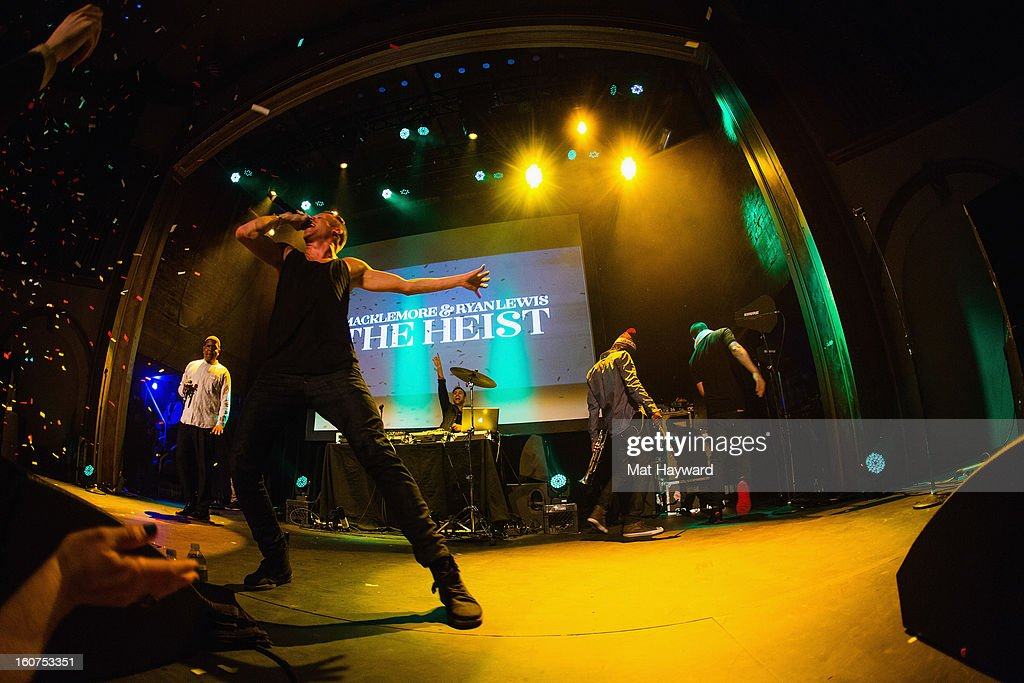 Macklemore & Ryan Lewis perform at the Neptune Theatre on February 4, 2013 in Seattle, Washington.