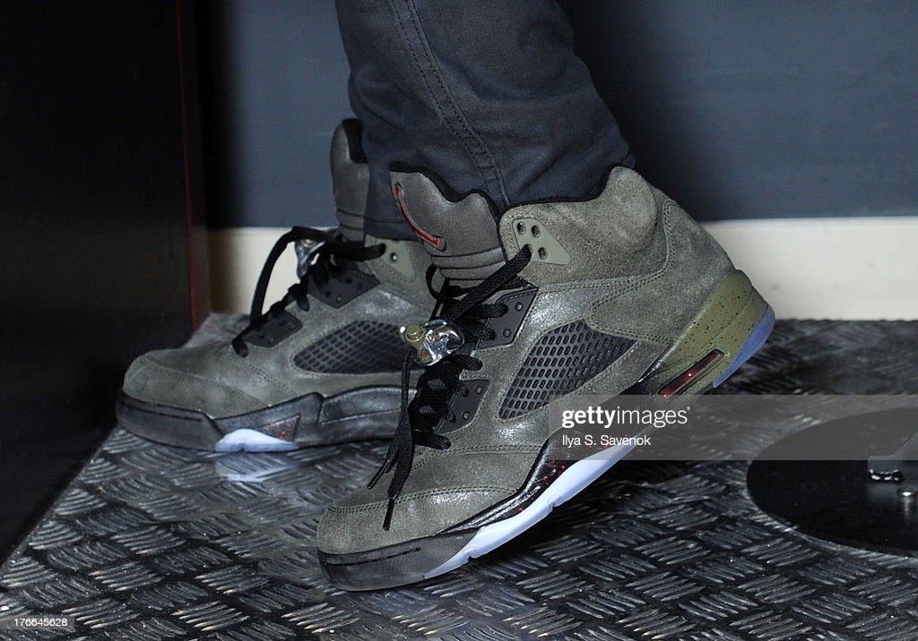 Macklemore (shoe detail) visits SiriusXM Studios on August 16, 2013 in New York City.