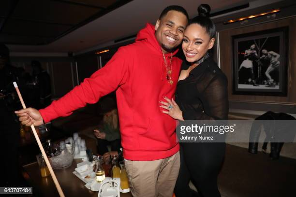 MackWilds and Tahiry Jose attend 'The Breaks' Viewing Party at 40 / 40 Club on February 20 2017 in New York City